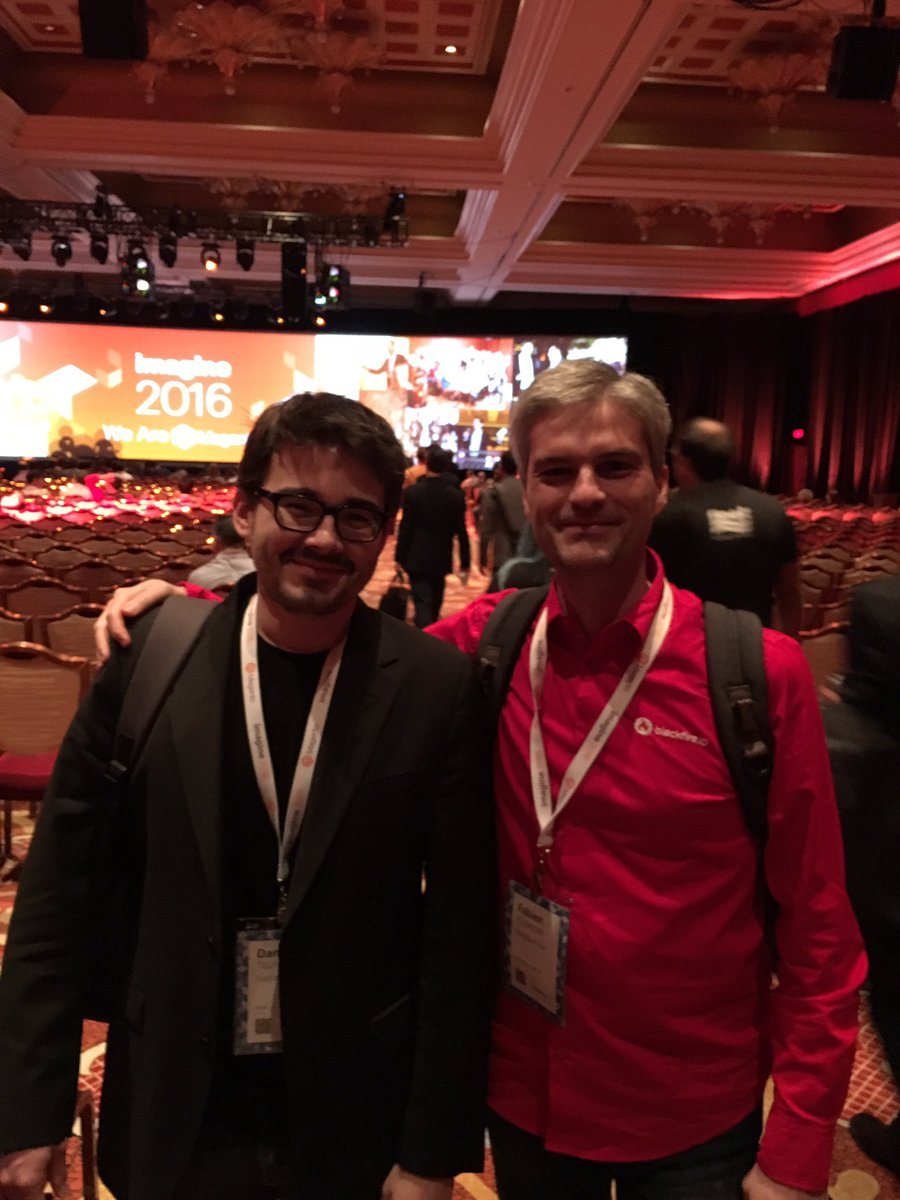 FredPlais: Heavy weight engineers in the room for #MagentoImagine @DamZ @fabpot @platformsh @blackfireio https://t.co/oQuhLJtlPM