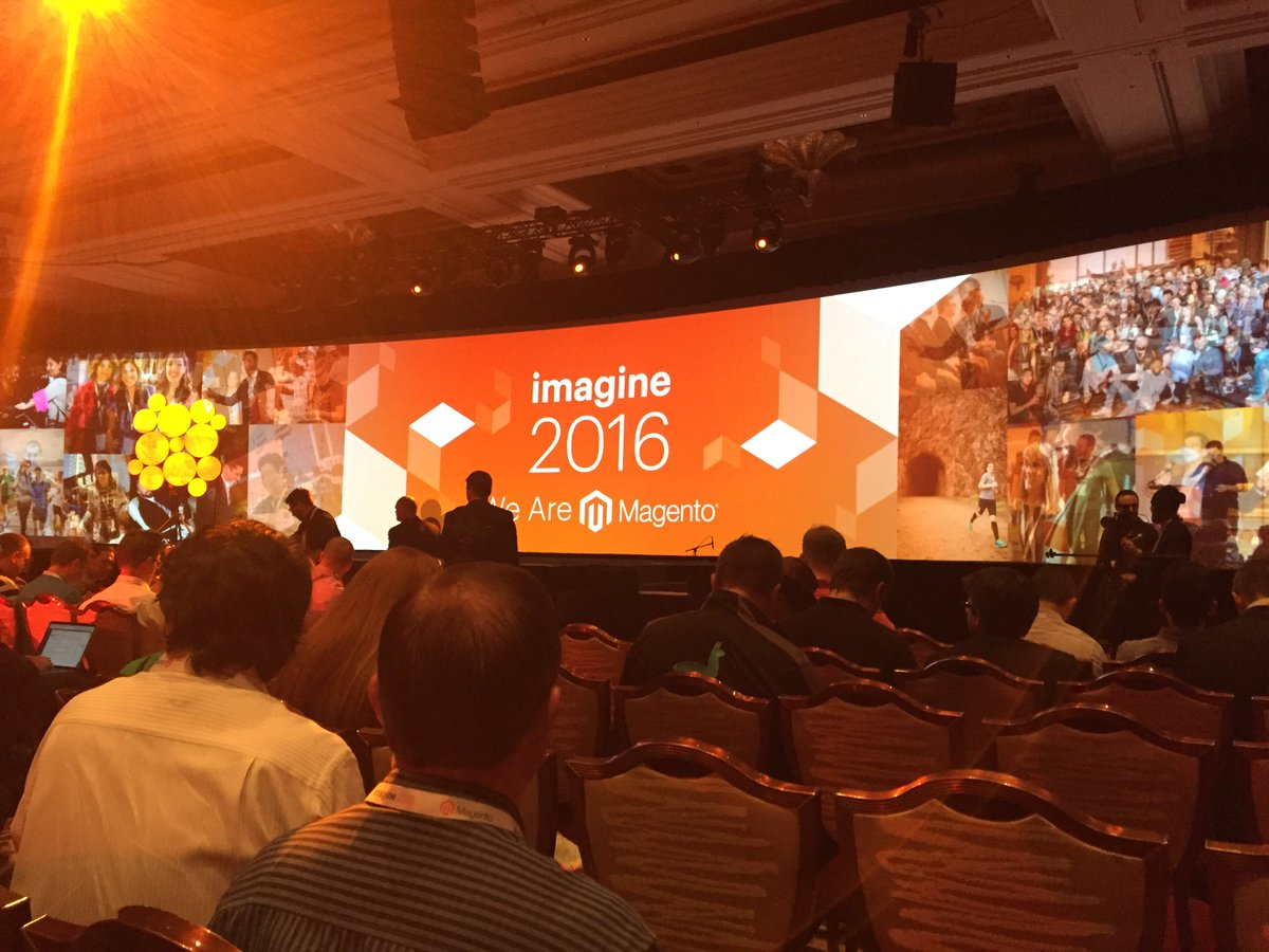 joshdw1: Time for the keynote! #MagentoImagine https://t.co/2WbfOGfEdO