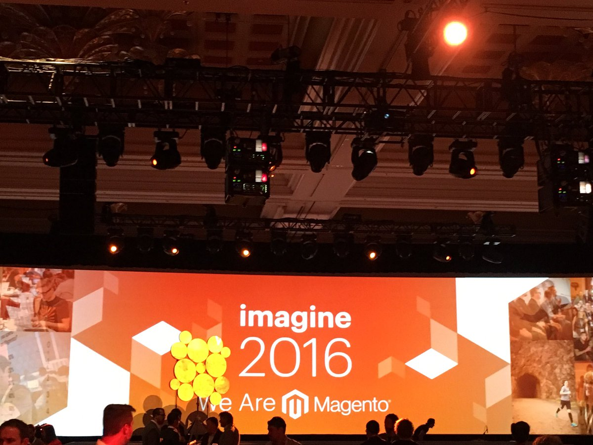 pinofilice: 1st General Session of #MagentoImagine ready to start. https://t.co/7L6UVEkhhO