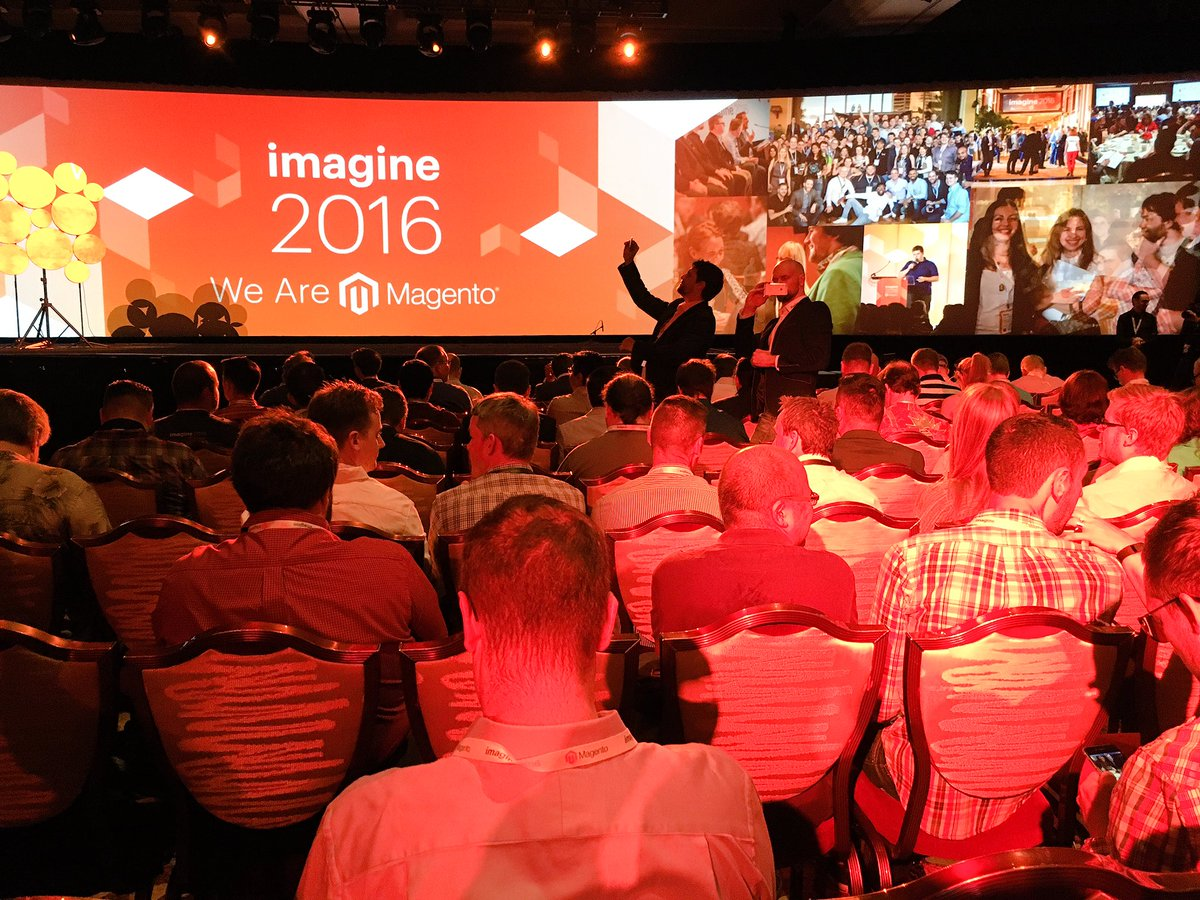 kadro: Yes.  It's happening.  Let's do this @Magento #MagentoImagine https://t.co/AGZDnqXU1f