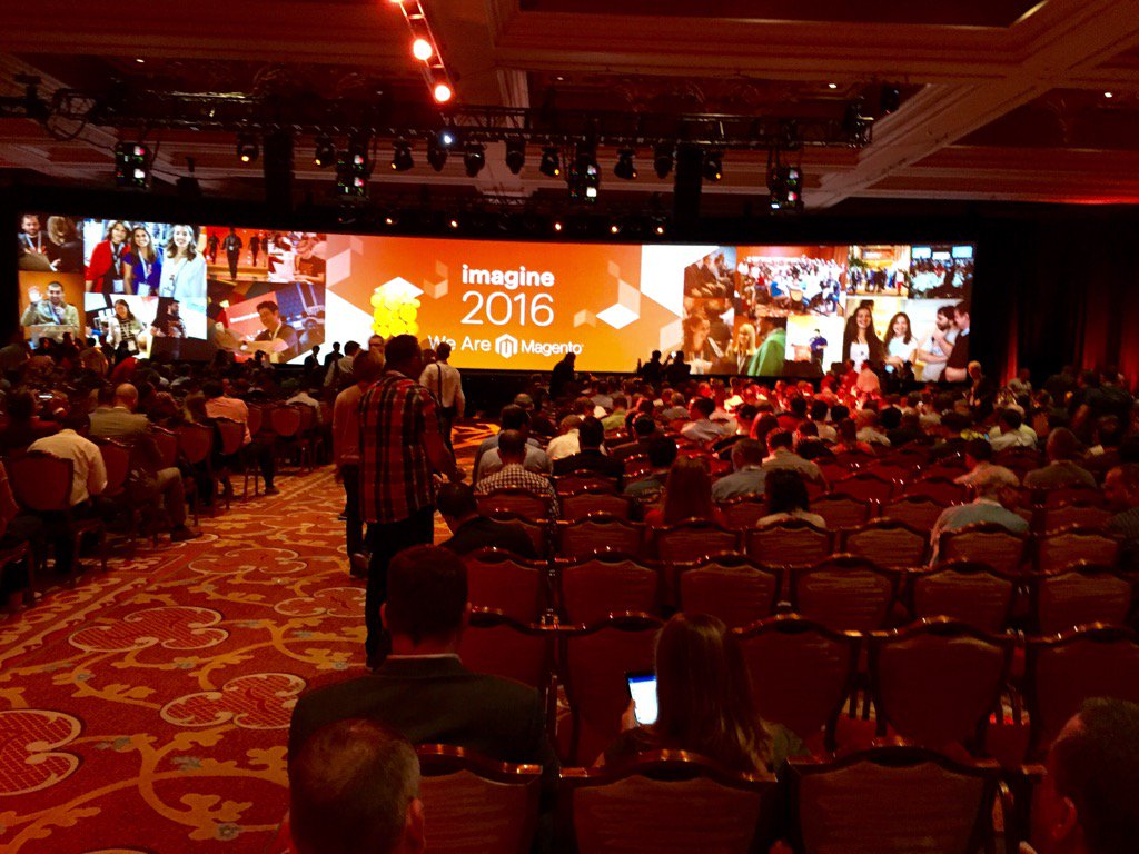 rrosinnes: Room filling up .. Ready for the keynote! #MagentoImagine https://t.co/ZEconThgIv