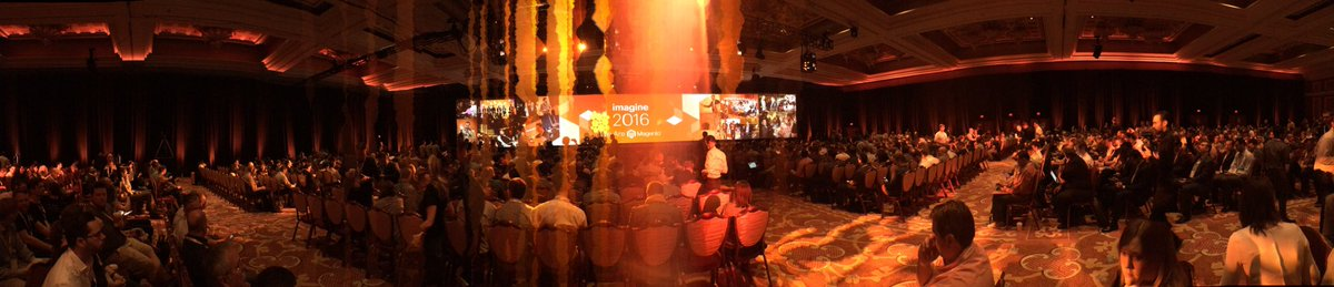 alegringo: All ready for the fist key notes #MagentoImagine https://t.co/u6posTXrxQ