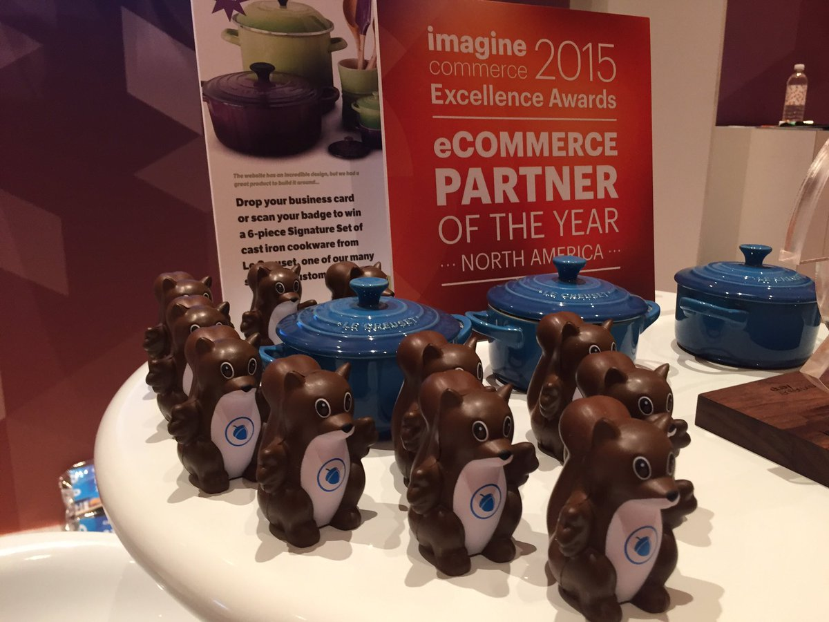 blueacorn: Squirrel army is ready for day 2 of #MagentoImagine! Come by booth411 to meet the 2015 @magento Partner of the Year https://t.co/eX7OflNQuN