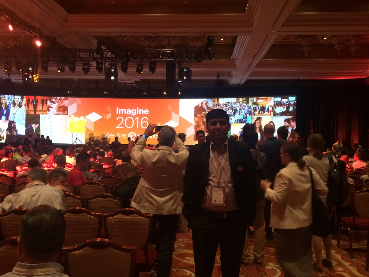 bhaveshsurani: Day 2 - Magento Imagine @ 2016 #MagentoImagine #magento #Imagine2016 General Session & Keynotes I https://t.co/7XTl4Lzvox