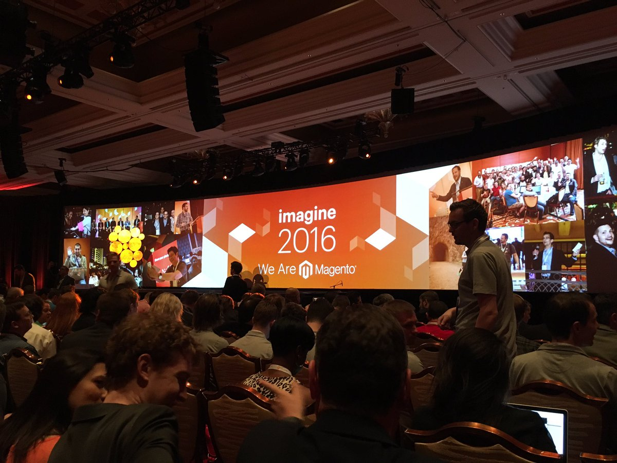 GroupeSmile: Prêt pour la keynote #MagentoImagine #magento https://t.co/pq2YkW76GC