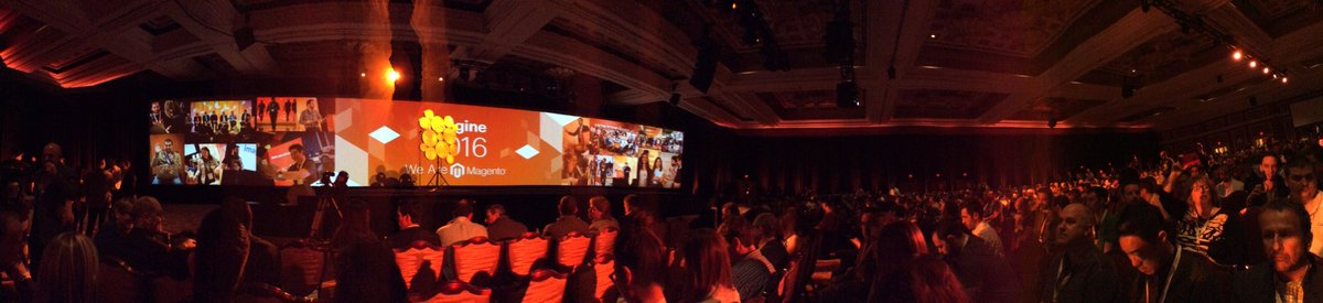 bshop: #Imagine2016 #MagentoImagine general keynote. Always a great moment ! https://t.co/AxlxZ5Sj9B