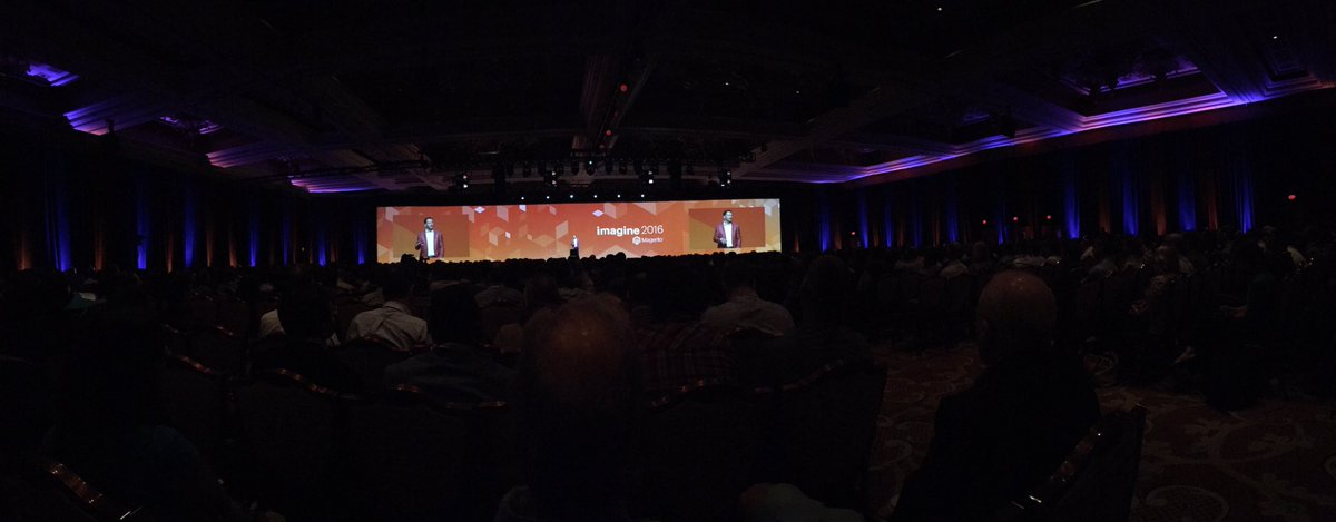 ebizmarts: Full house at #MagentoImagine kick off https://t.co/06hmM3PsFq
