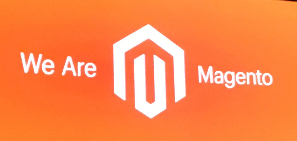 magentogirl: We are @Magento! #MagentoImagine https://t.co/OZWNyS8aou