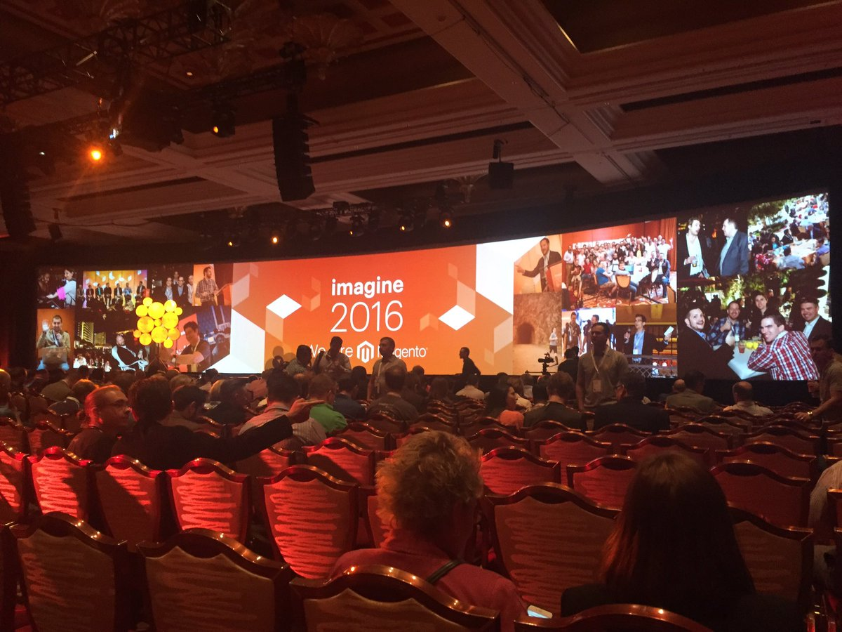 ICharlotteSmith: Ready for Day2 @ #MagentoImagine @connor_mcmorrow @1JuanErnesto in the building! Hit us up to chat about @LincVIP! https://t.co/e811fJp44h