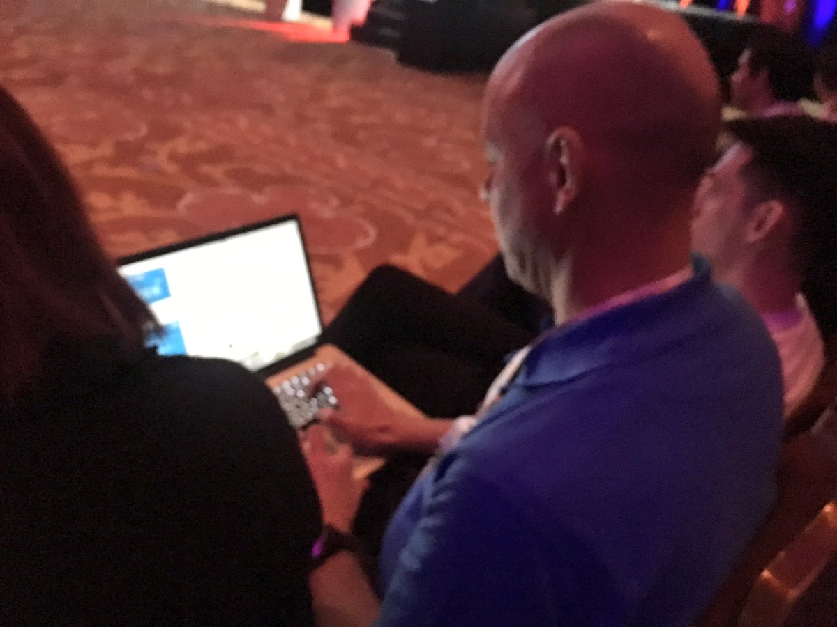 benmarks: Master Tweeter @brentwpeterson is on the clock at #MagentoImagine https://t.co/4j8LKvszOn