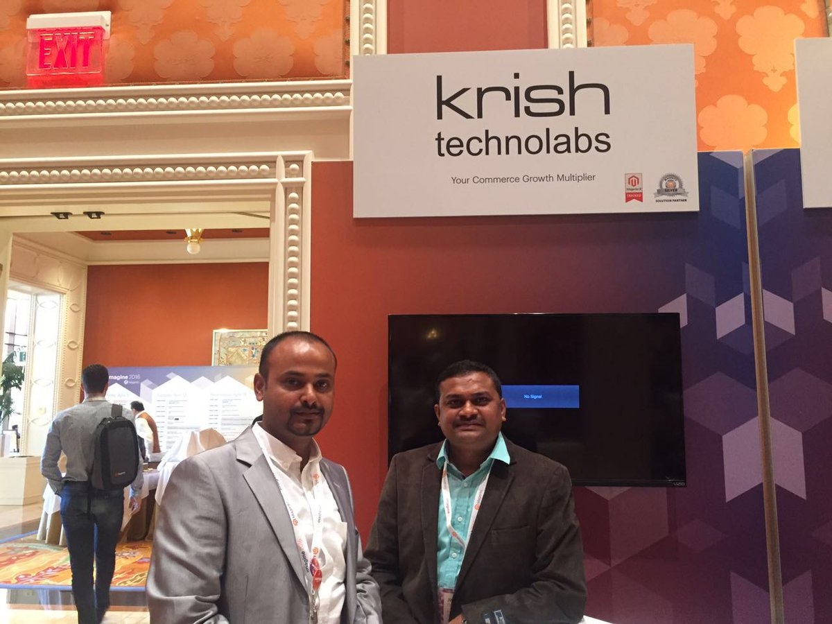 krishtechnolab: We're ready for Day 2, Meet the Krish Technolabs team at Booth 14. #magento #Imagine2016 #MagentoImagine https://t.co/Gr74LjWizM