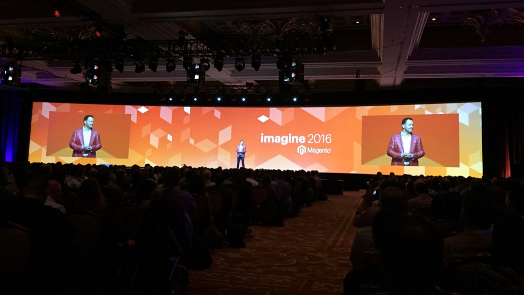 ericerway: Day Two of Imagine 2016 is underway with Jamie and a drum line kickoff. Welcome! #MagentoImagine https://t.co/3cSU9MRzyc