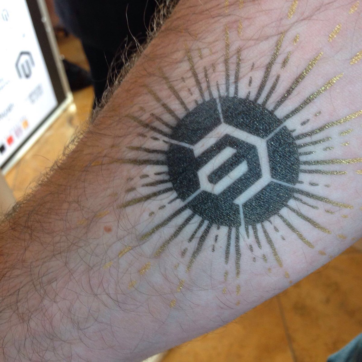BrightpearlHQ: We love our new @magento tattoos! #MagentoImagine! Come say hello at booth #322! https://t.co/LRFmElsIoT