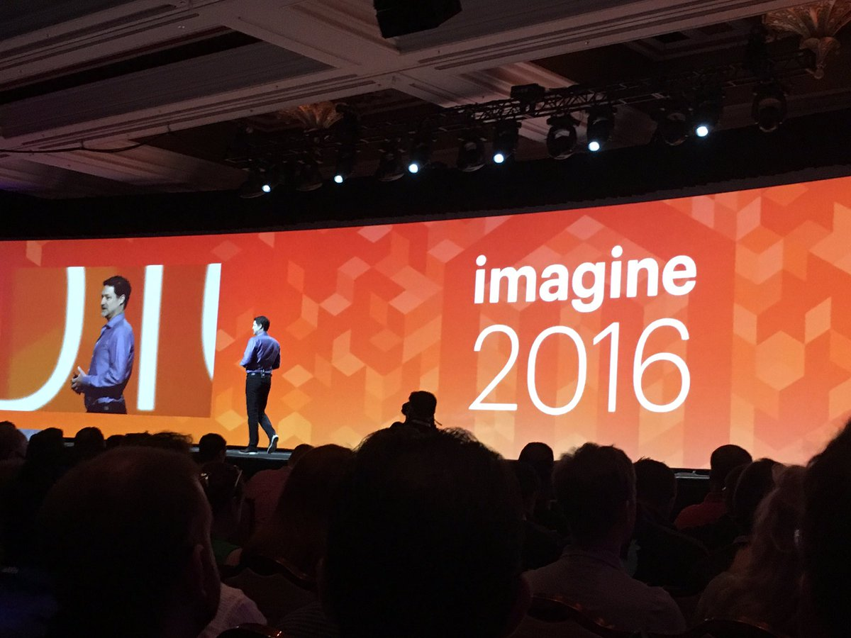 phoenix_medien: Now @mklave1 enters the stage #MagentoImagine https://t.co/K6lTM0PbwM