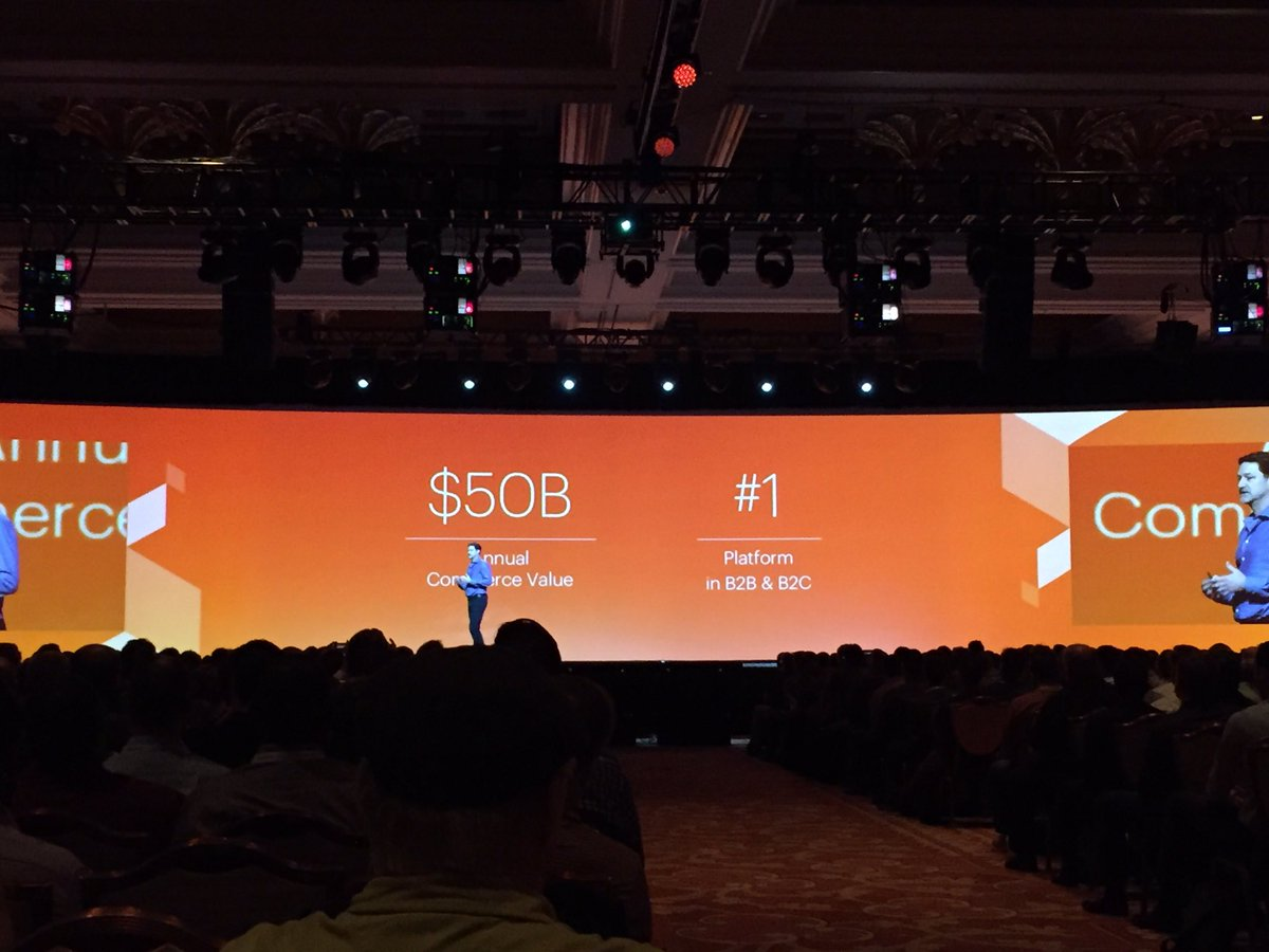 PieterCappelle: Magento is the number One platform for e-commerce! #magentoimagine https://t.co/5619a2VLdP