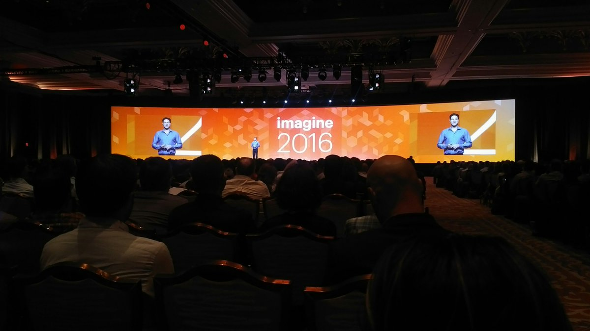 KeyoraInc: Seems most people made it to the keynote at #MagentoImagine https://t.co/lo1pVp5HmT