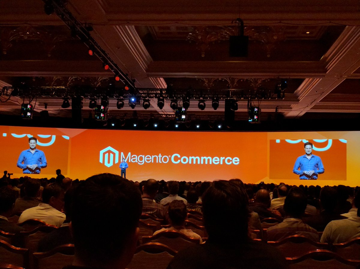 MIdreesButt: 'Ladies and Gentlemen! Magento is back'nn#MagentoImagine https://t.co/2YxHMN2WWi