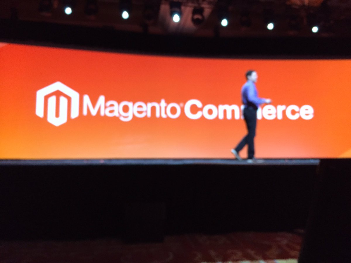 ProductPaul: Mark announced the 'new' Magento Commerce #MagentoImagine https://t.co/zC1dqL3fnm