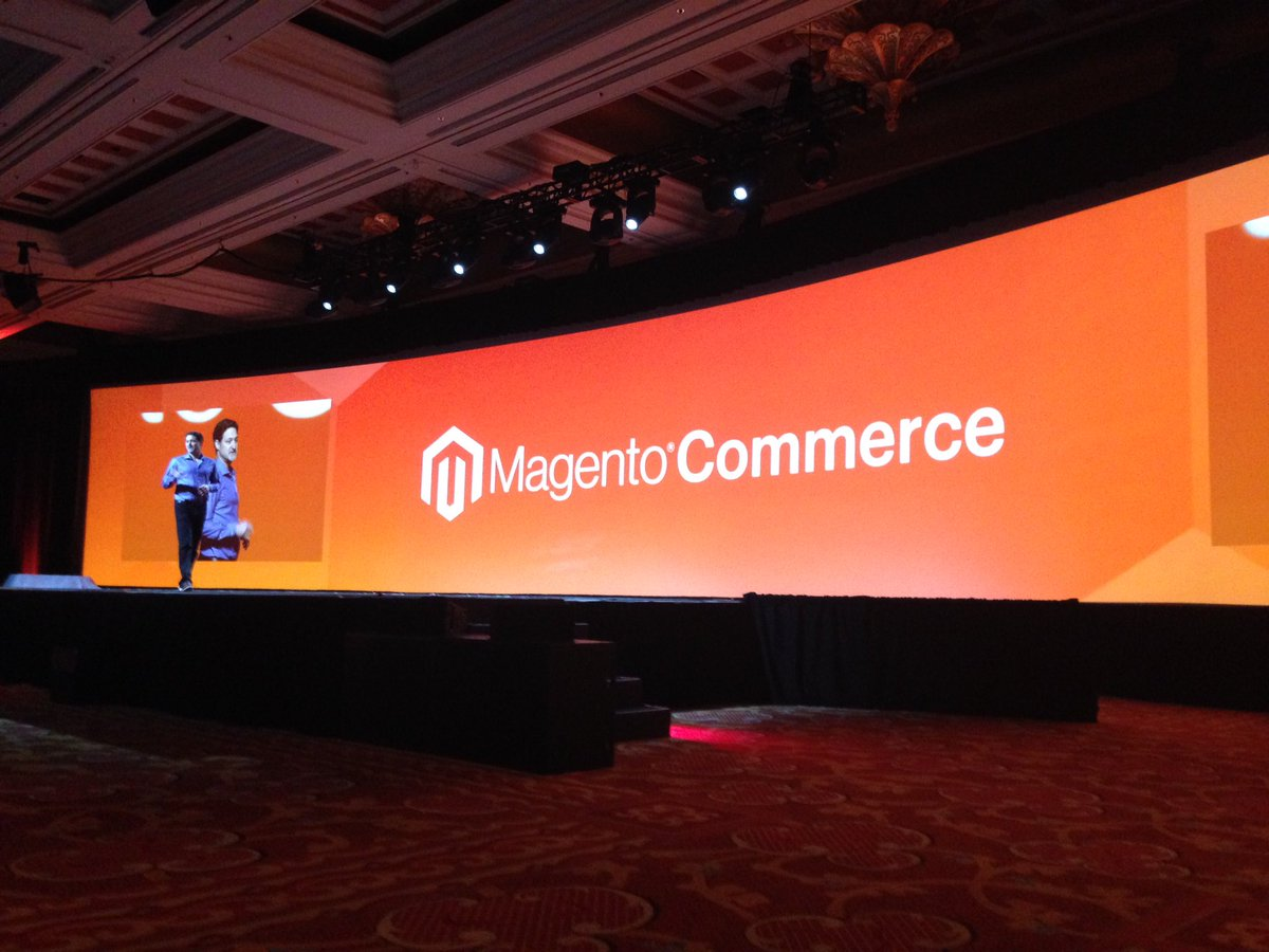 SheroDesigns: #Magento is back! @mklave1 we are a #community of passionate people! #realmagento  #MagentoImagine https://t.co/KfjIwUtYP0