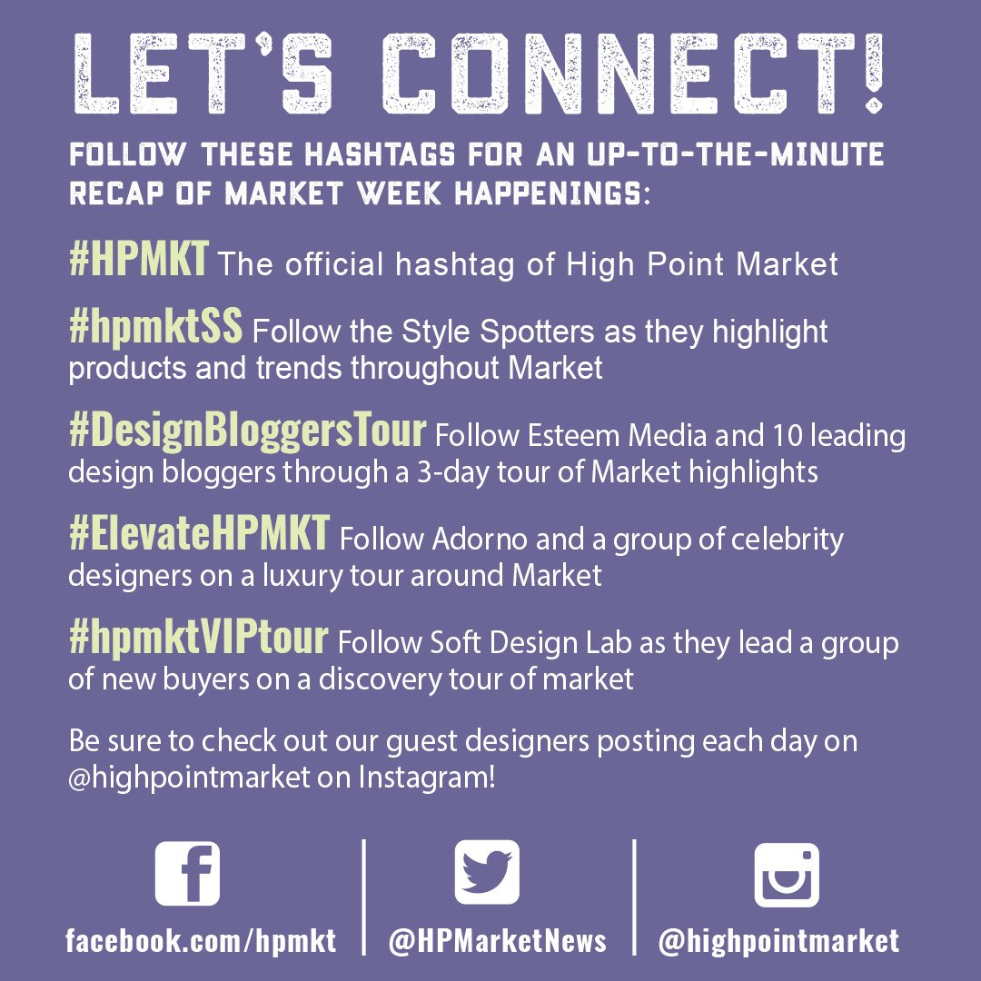 Stay connected during #HPMKT on social media with these hashtags & our daily Instagram guest posts! https://t.co/8LvB6zp942