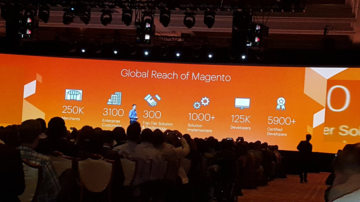 betz826: Magento by the numbers.  #MagentoImagine https://t.co/EjpnfEOgVZ