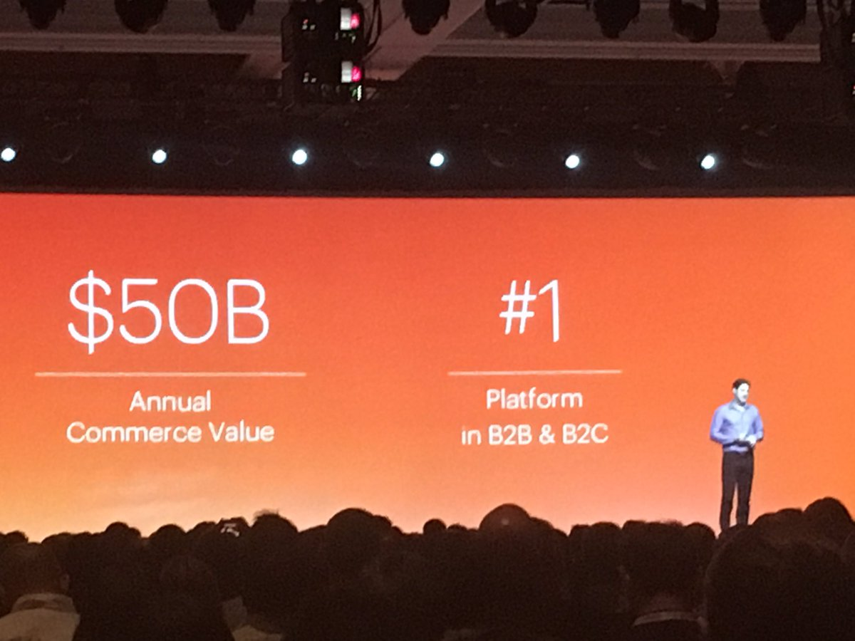 wsadaniel: Conservative estimates put @Magento at #1 in B2B & B2C - @mklave1 #MagentoImagine https://t.co/Ufk9ZzJoRc