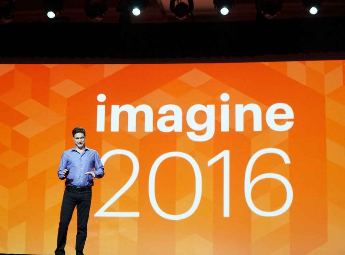 wejobes: @mklave1 takes the stage and proclaims 'We are Magento!' #MagentoImagine https://t.co/fylKk2EANl
