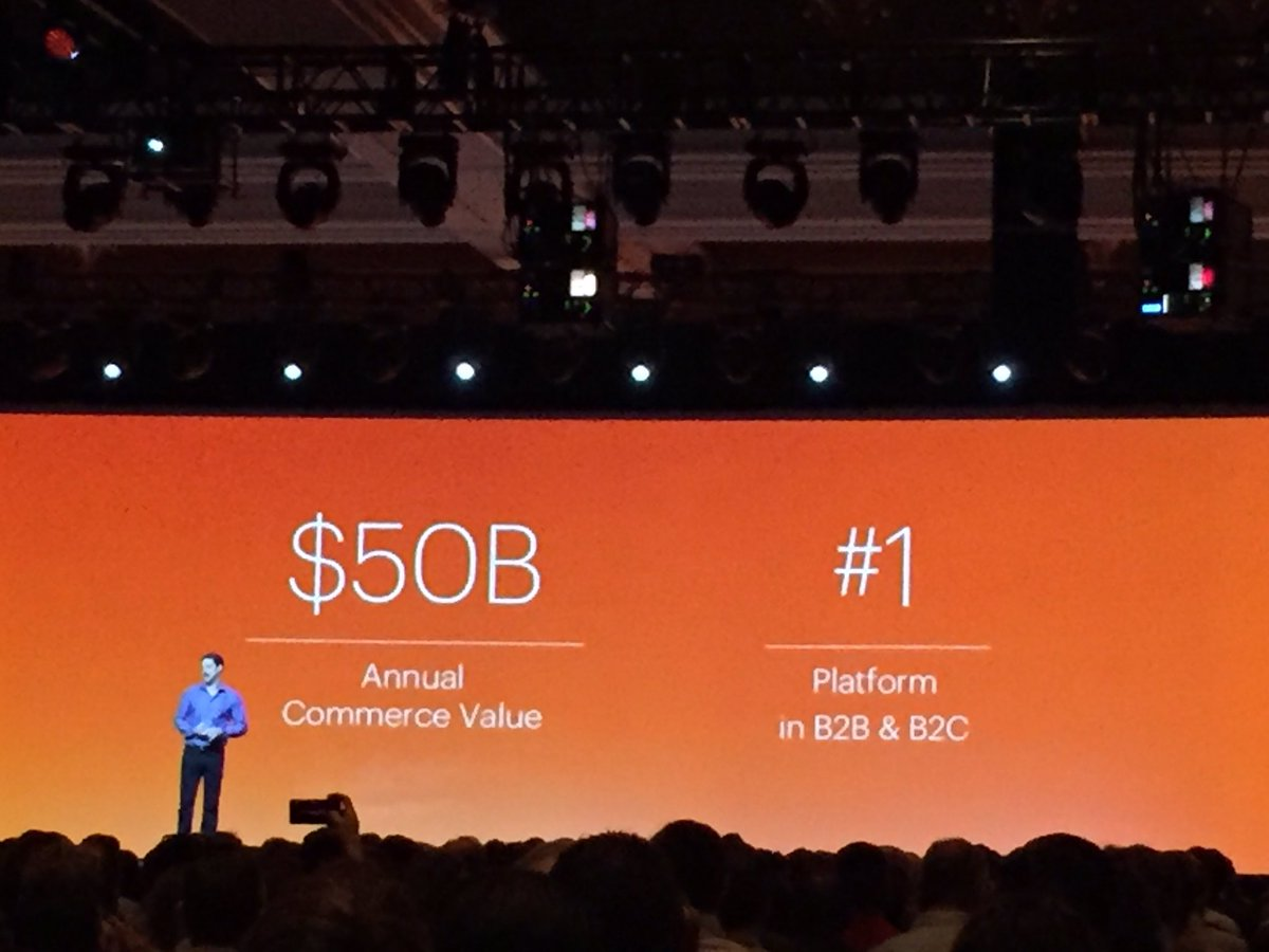 tomik99: 50B Annual Commerce Value on @magento - no 1 #b2b and #b2c eCommerce platform. #Imagine2016 #MagentoImagine https://t.co/AgveR9DLGu