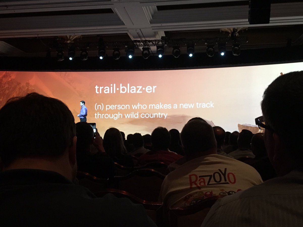 kristinemcnerdy: .@magento customers are different, we are trailblazers #MagentoImagine https://t.co/zpQZqcNbXI