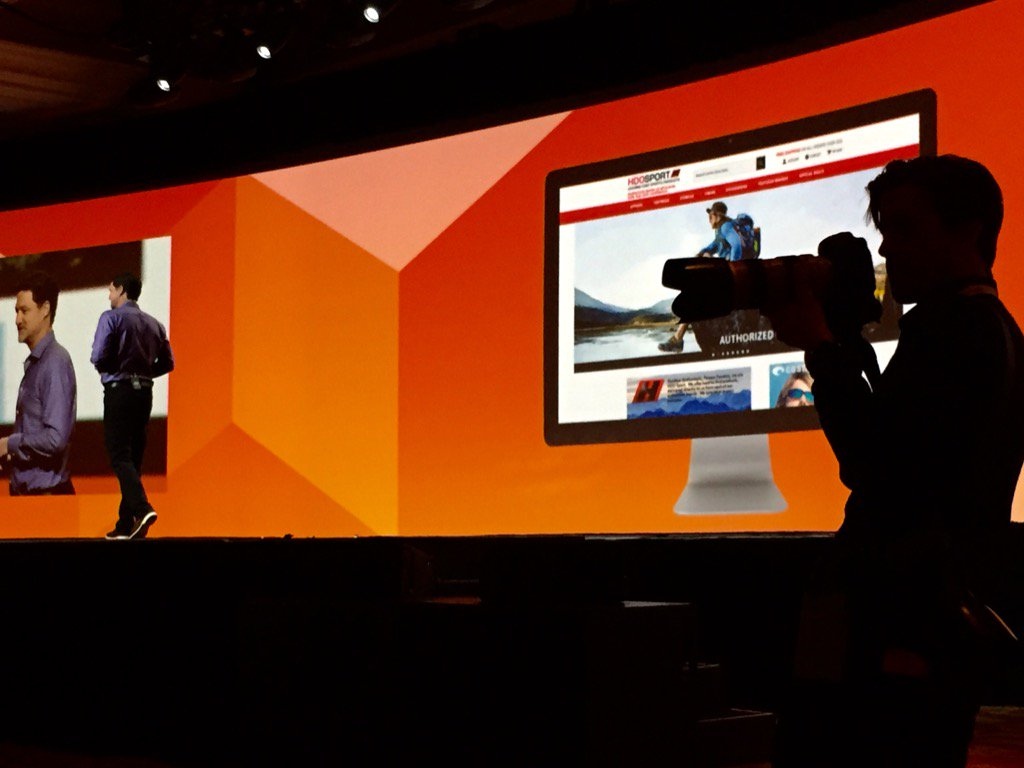 robertDouglass: Shooting @mklave1 on stage at @magento Imagine #MagentoImagine https://t.co/tIQdpMa5bw