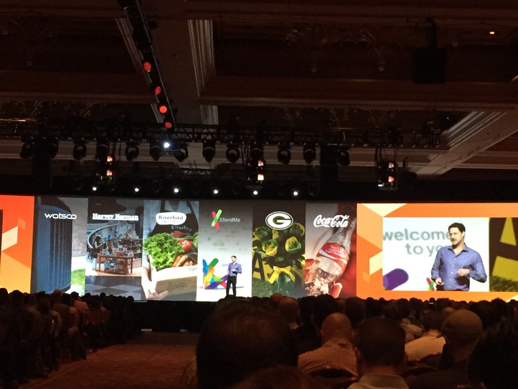 magento_rich: .@mklave1 talks about the major brands on @magento platform. #MagentoImagine https://t.co/PzFJqUGWO2