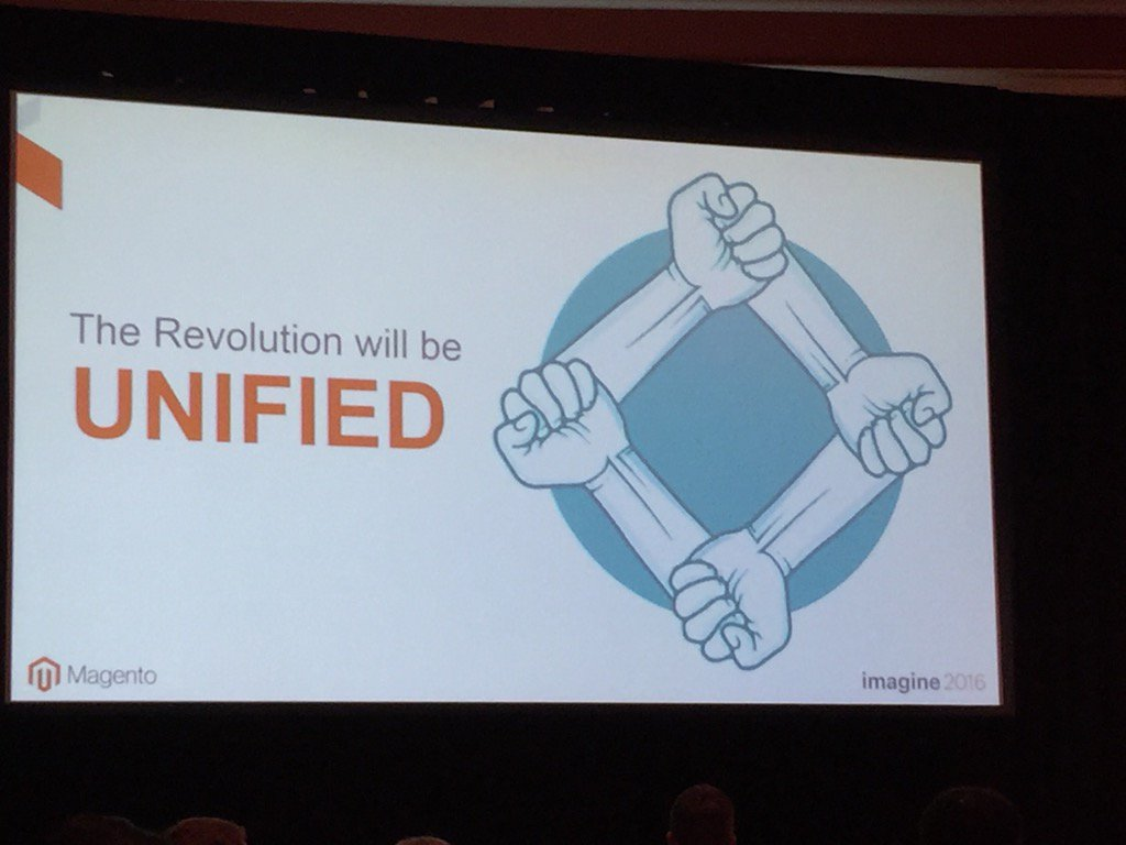 jerrysheldon: #MagentoImagine Unified Commerce gains momentum with @magento https://t.co/0wrp6G4iin