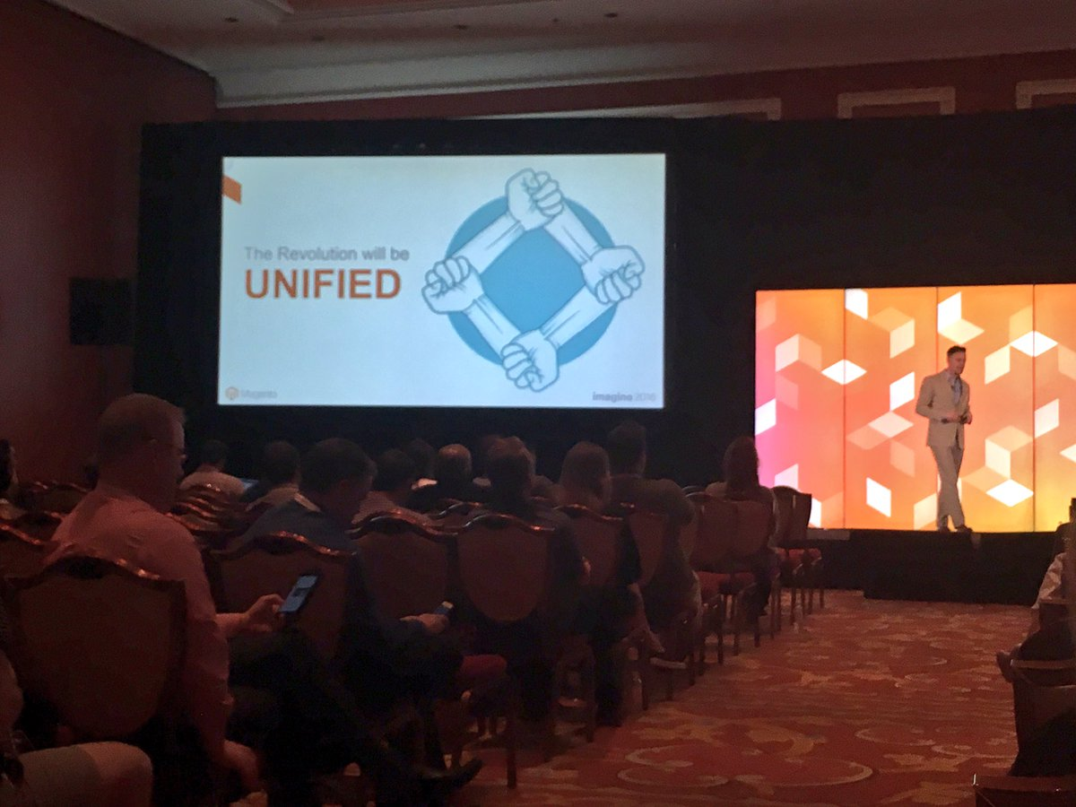 kristinemcnerdy: Unified commerce is customer-centric and here to stay. @mdharvey @GoCorra #MagentoImagine https://t.co/HavigltB57