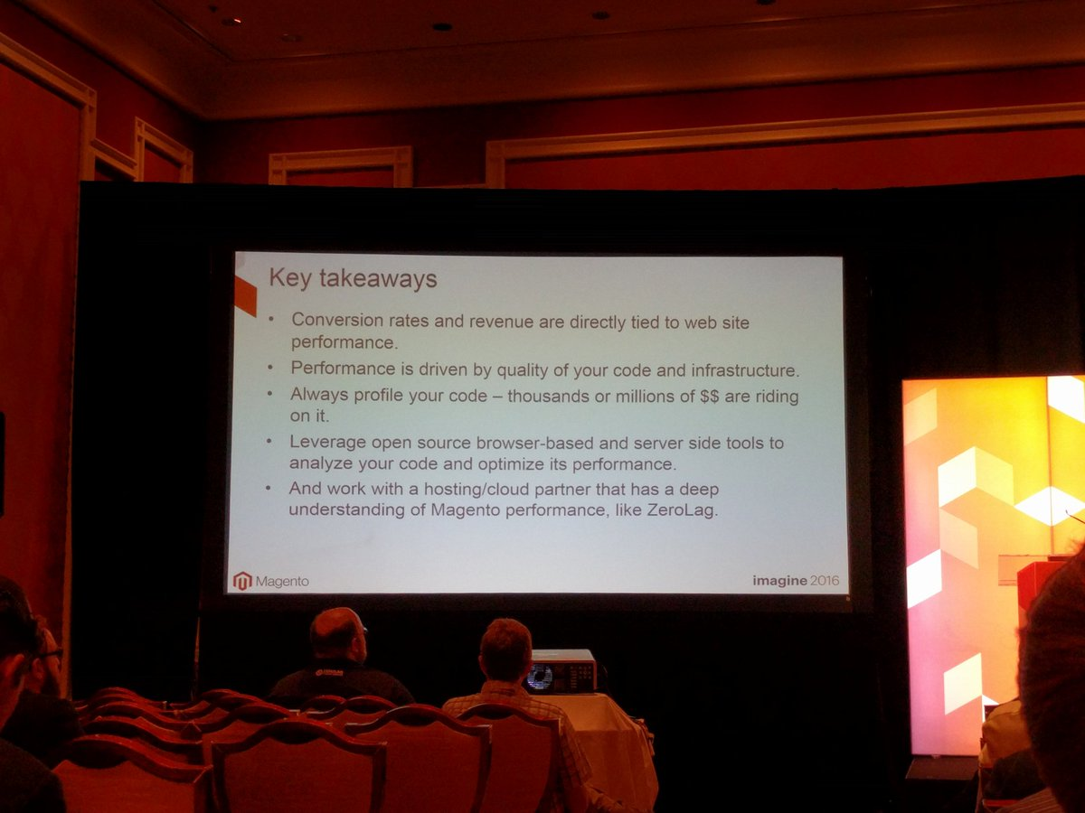 crduffy: Key takeaways for importance of site performance #MagentoImagine https://t.co/OQv4fBw30T