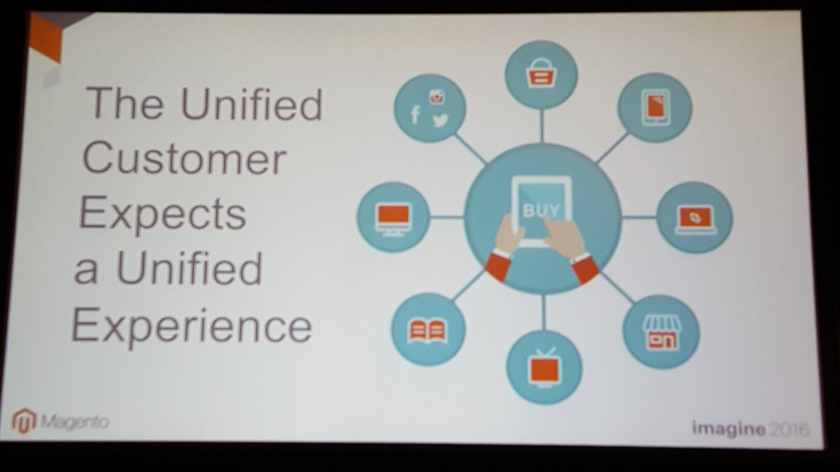 mgoldman713: To deliver a unified customer experience, you will need a unified commerce platform. @mdharvey #MagentoImagine https://t.co/hmTuaOOWgT