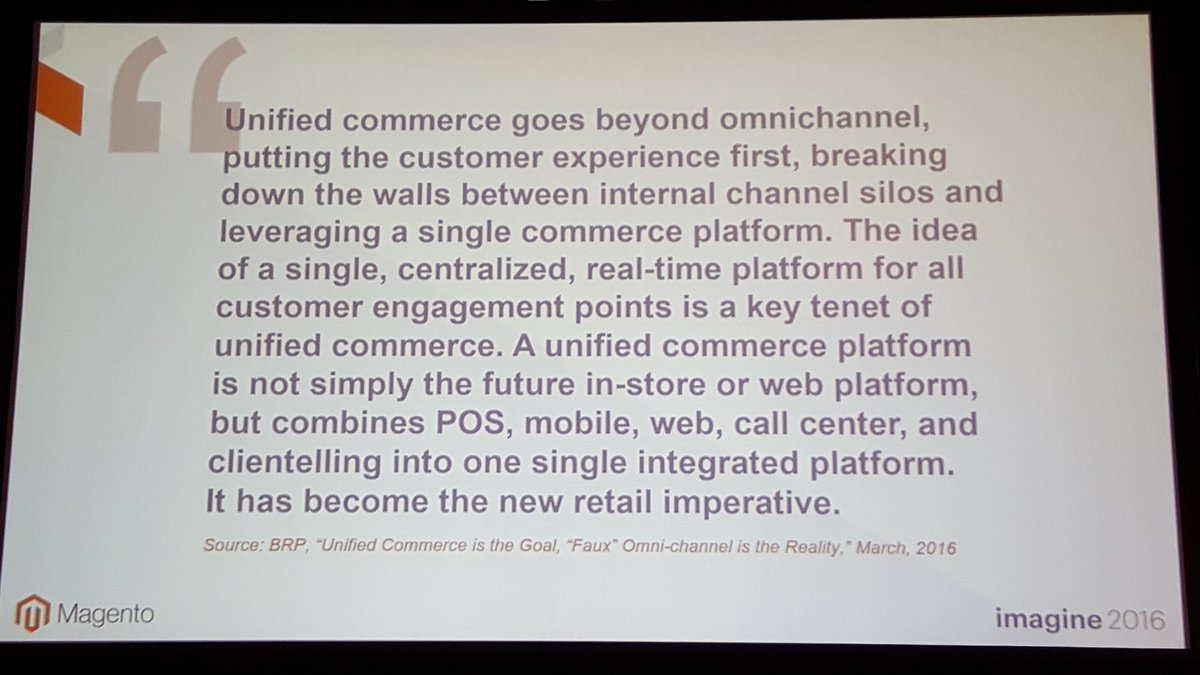 mgoldman713: 'Faux omnichannel!' @mdharvey #MagentoImagine I've personally never heard this expression before. https://t.co/UQbZSLpBeM