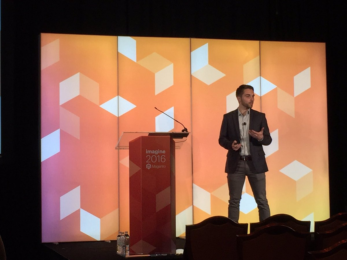 annhud: Segments are the best tool to find insights to drive optimizations with James McDonald of @LYONSCG #MagentoImagine https://t.co/nlWfaaAu22