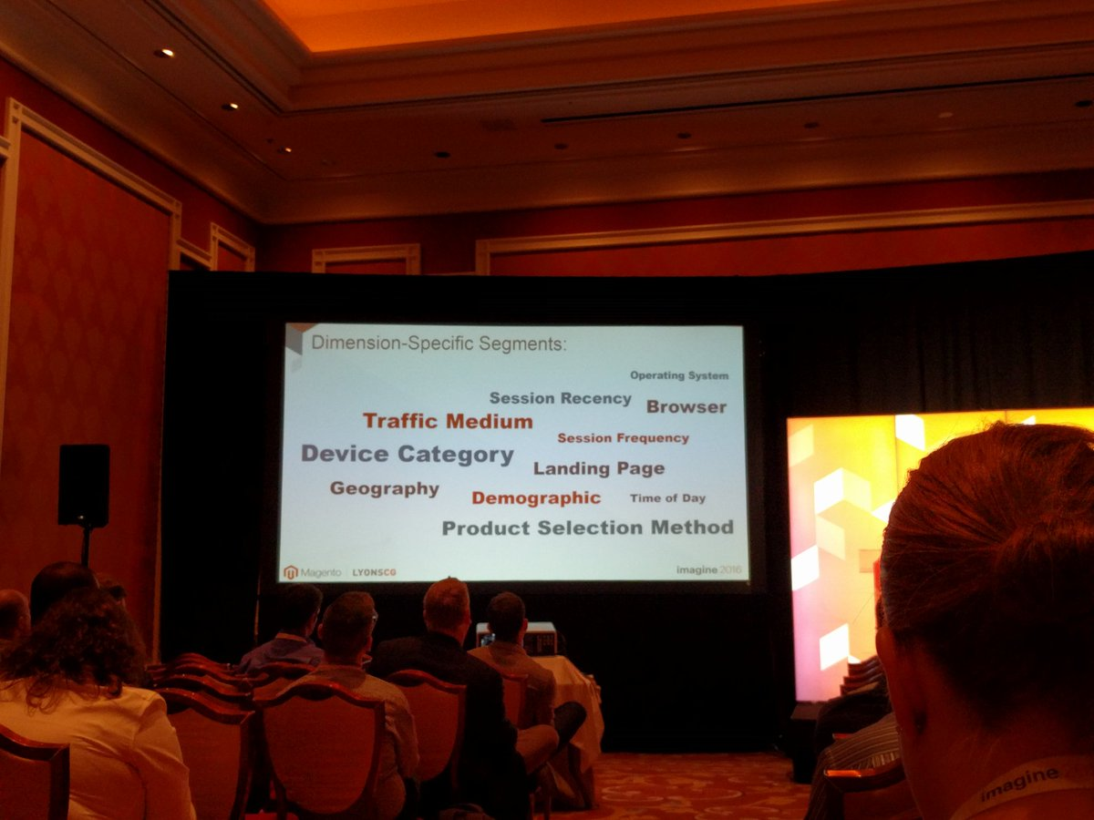 crduffy: Dimension specific customer segmentation #MagentoImagine https://t.co/LAk63kErjX