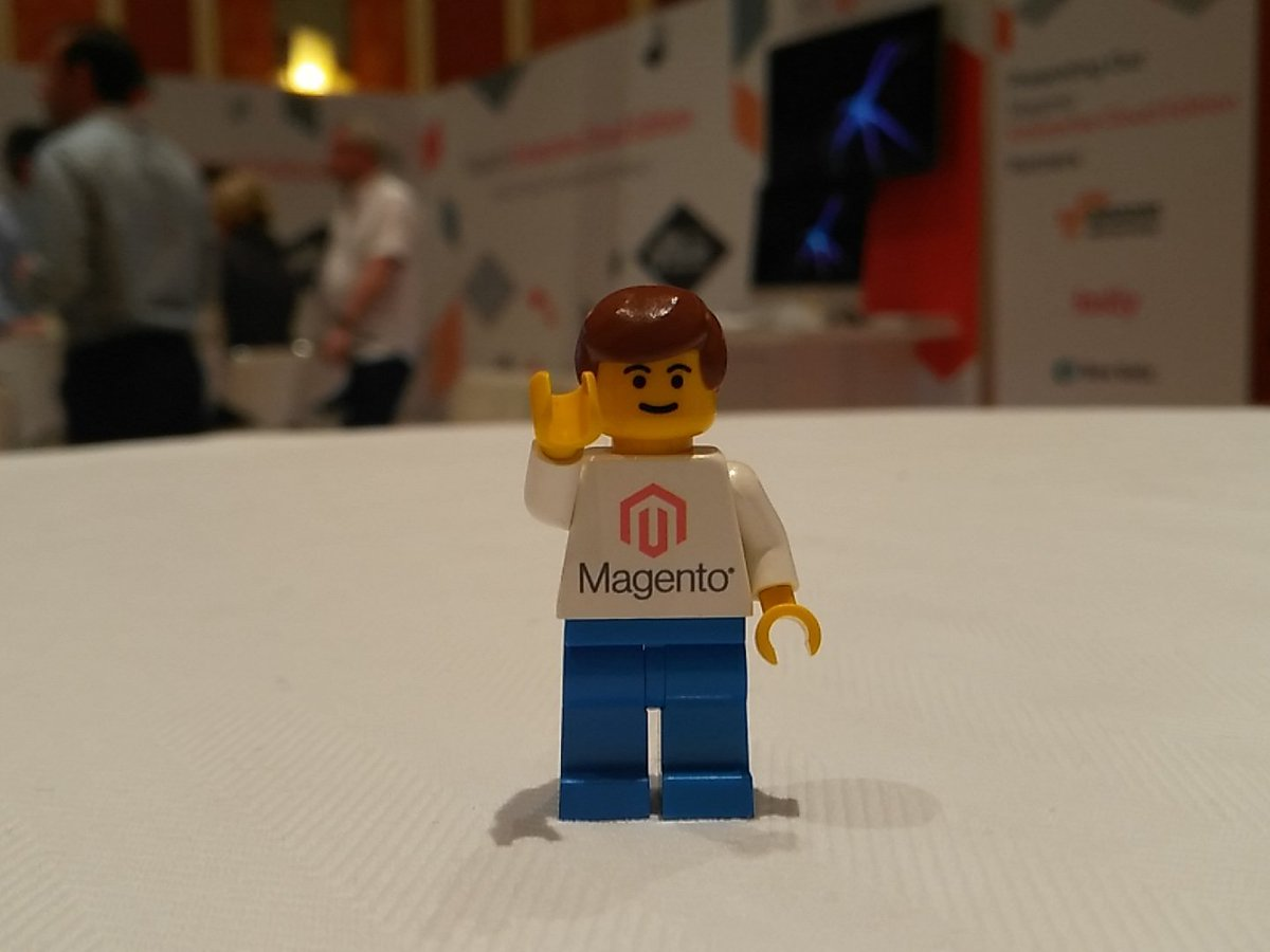 tutnix: Yikes got one of the @magento Lego guys. Will probably have to share it with my little ones after #MagentoImagine https://t.co/VNAL0L4zmf