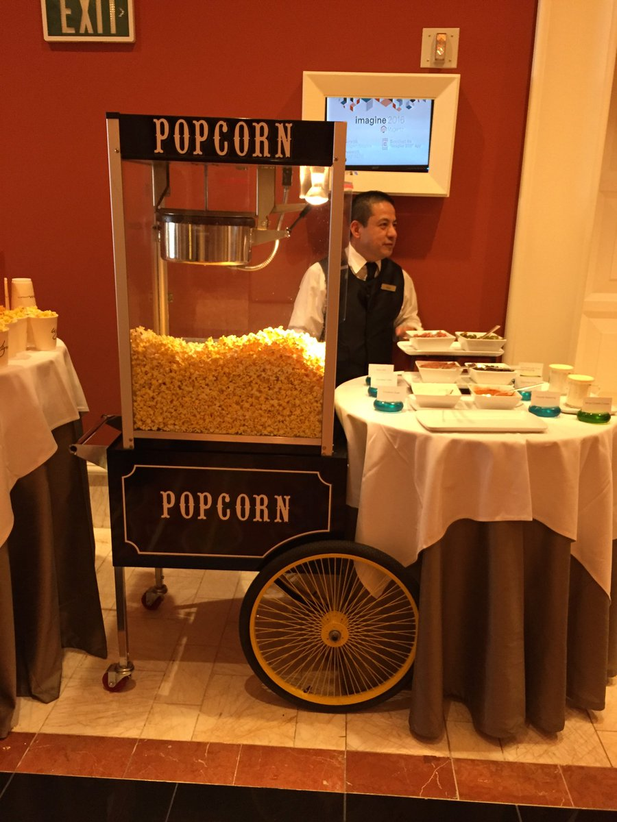 Jarrettboard: @MsDaniBeach They have popcorn!!!  @magentoimagine #uniteyourmarketing https://t.co/SPJZjxvqRu