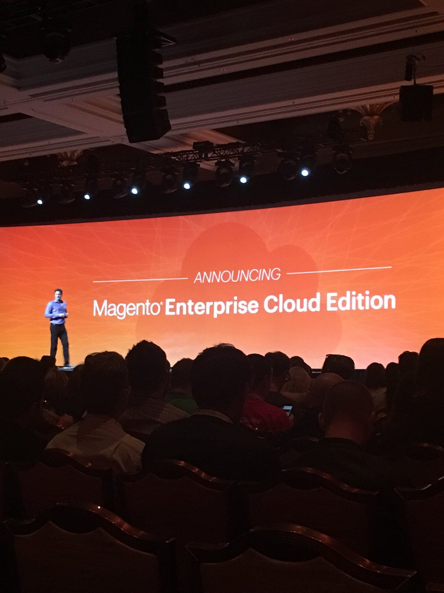 ICharlotteSmith: HUGE news. Magento Enterprise Cloud Edition available May 1. SMB version coming out shortly after. #MagentoImagine https://t.co/K3lwlzDrYW