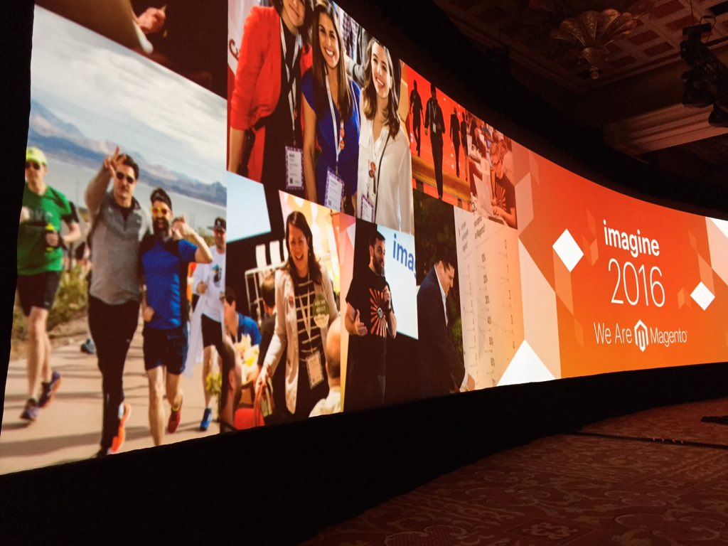 robertDouglass: Running with @mklave1 on the big screen - perfect start to the @magento @platformsh partnership #MagentoImagine https://t.co/9fTvWvzEjy
