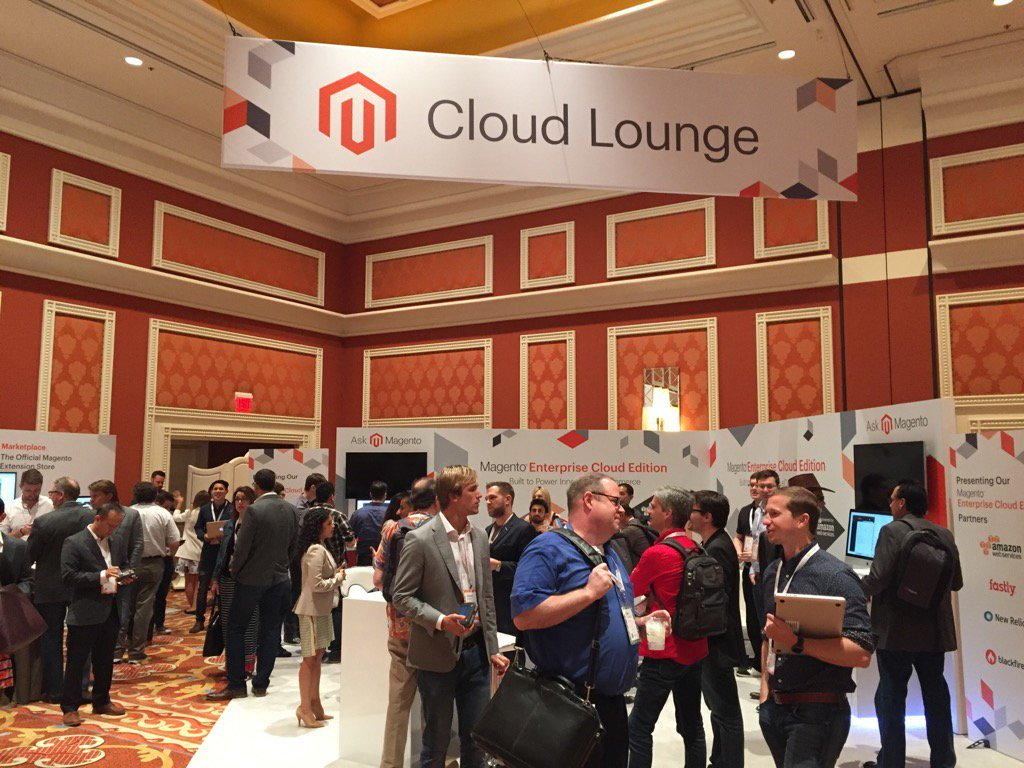 magento_rich: The@magento Cloud Lounge is busy. People have questions!#MagentoImagine#ECE https://t.co/vtboiXNgZO
