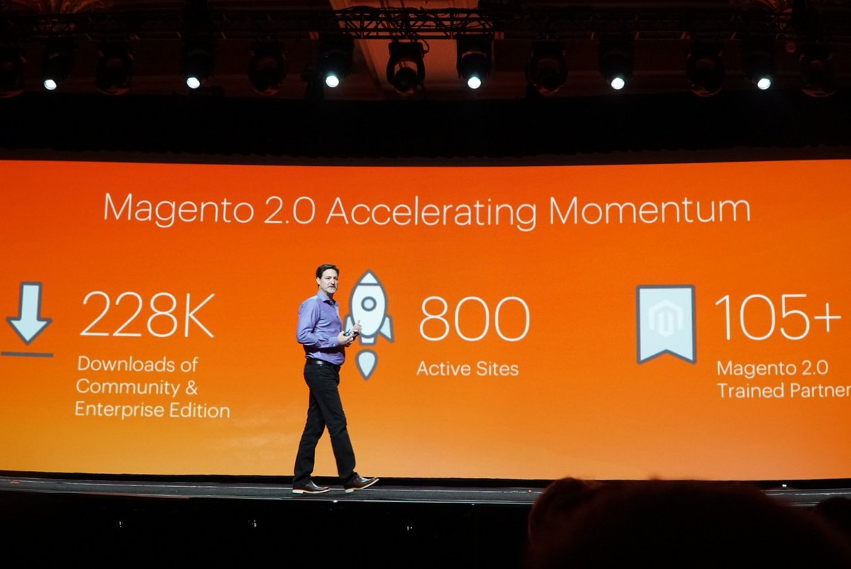 wejobes: Great adoption rate for Magento 2 #MagentoImagine https://t.co/LTje7Nr6wO