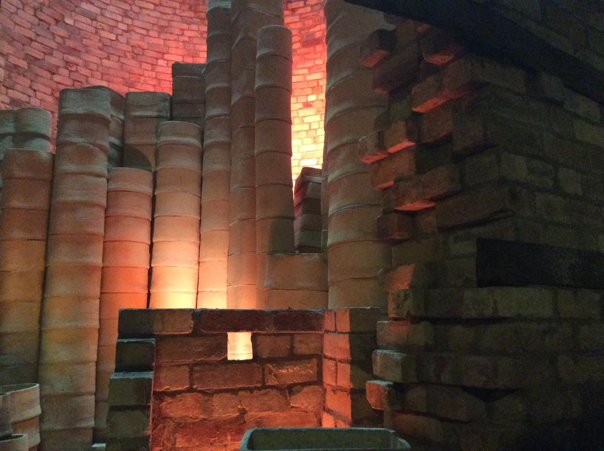 Inside a bottle kiln. Coalport Museum, Shropshire. https://t.co/3Q22b2eUMR