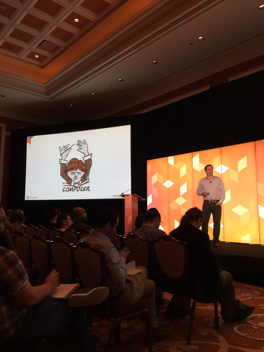 JoshuaSWarren: 2 years ago #ComposerPHP was an unknown in the Magento world. Now it's featured in #MagentoImagine announcements! https://t.co/y57cd2TPYd