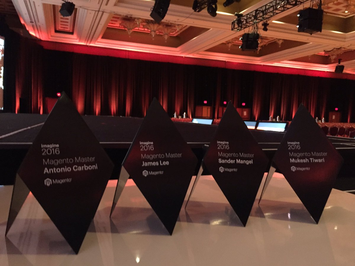 sherrierohde: Shout out to the four #MagentoMasters who couldn't join us today. We wish you were here! #MagentoImagine https://t.co/yrXDatx1oJ