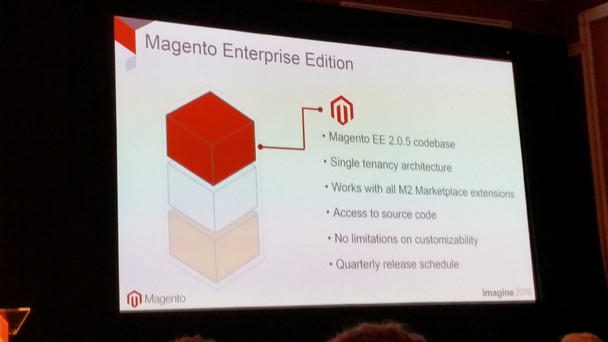 rlieser: The important point here is: No limitations on customizability #MagentoImagine https://t.co/X509MUrYRM