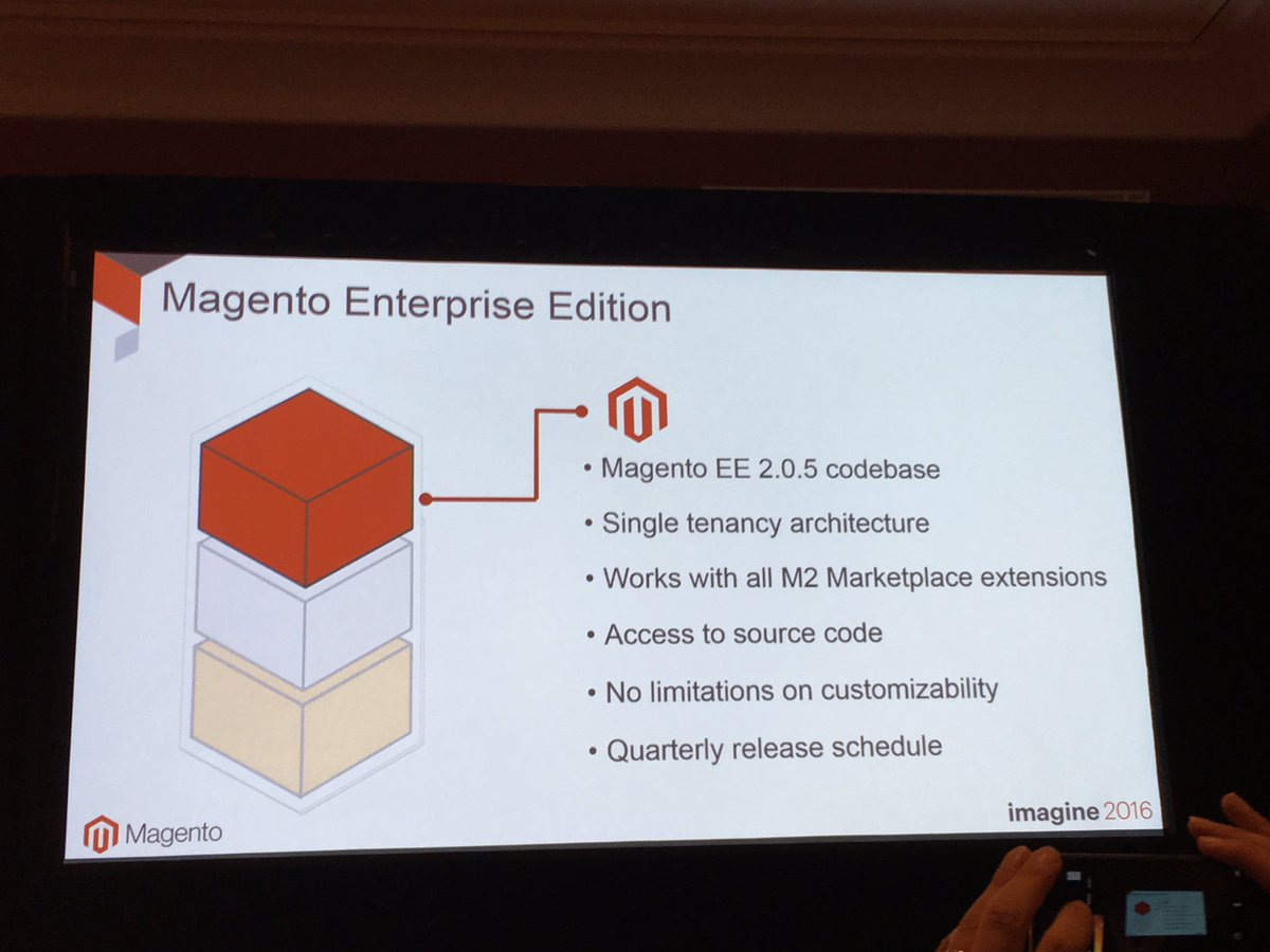 alexanderdamm: No limitation on custamizability in Magento Enterprise Cloud Edition #magentocloud #MagentoImagine https://t.co/5tDgXXAHjk