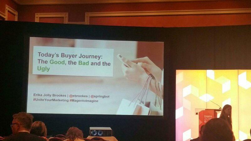 RandSEO: .@SethRand is busy at #MagentoImagine listening to @ebrookes from @Springbot #UniteYourMarketing #BuyerJourney https://t.co/7nSvXBHhfj